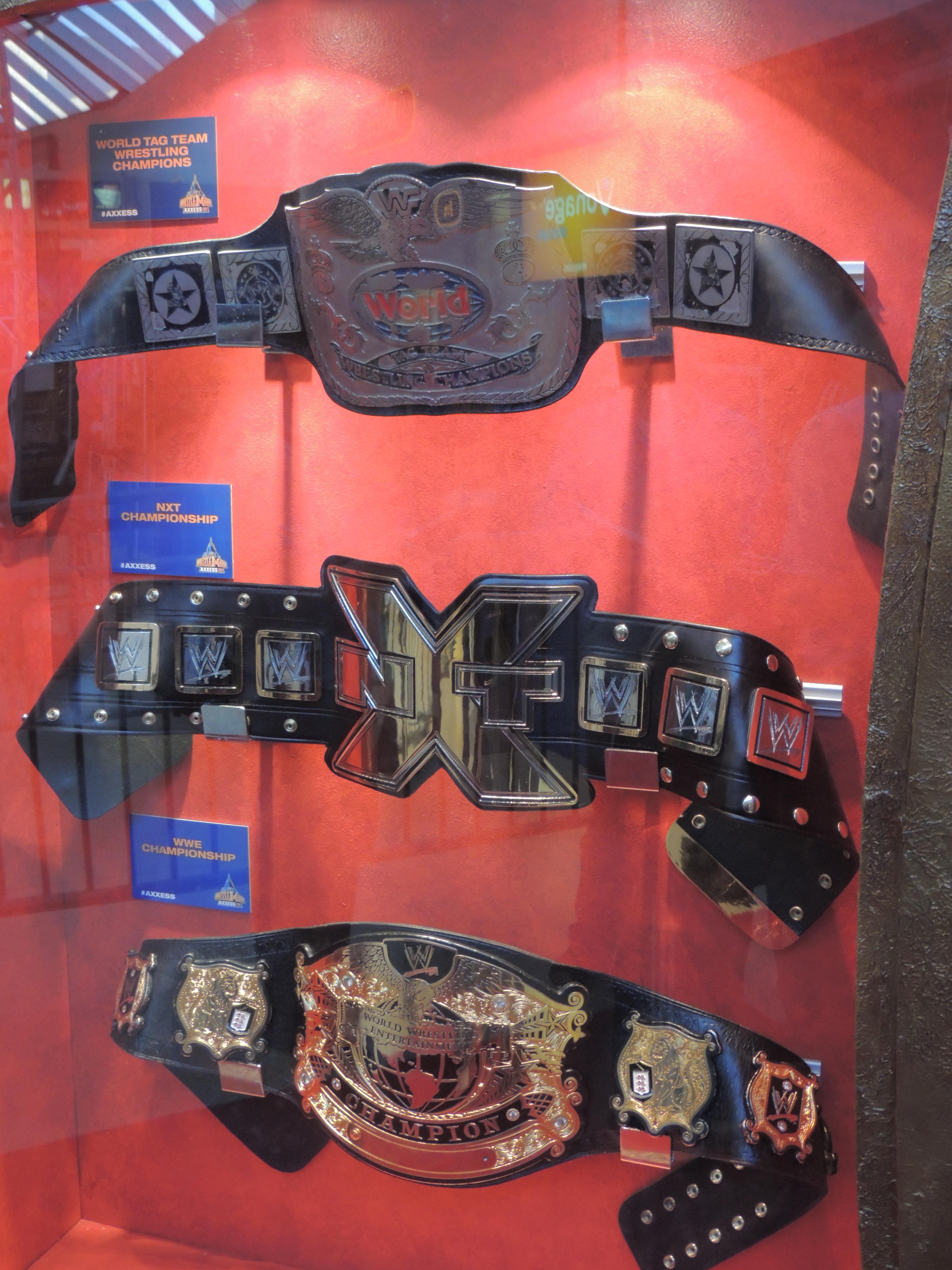 Nxt Championship Belt Wwe axxess friday 4 5 2013Wwe Unified Tag Team Championship